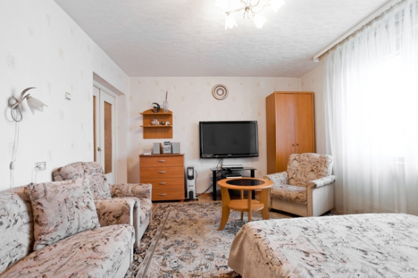 Frunzenskaya subway station, 1-one-bedroom apartment for rent in Minsk Zaslavskaya street,  house number 19